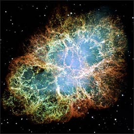 The Crab Nebula has a diameter of 11 light years and is located 6,500 light years from Earth. Photo: NASA/ESA Hubble