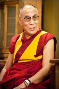 The Dalai Lama is a founding patron of CCARE and has spoken at Stanford on compassion. Photo: CCARE