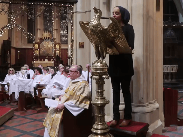 A Muslim woman reads from the Quran at St. Mary's Episcopal Cathedral in Glasgow, Scotland – Photo: Anglican TV, You Tube