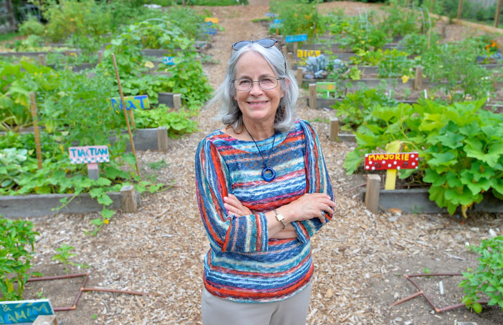 Jill Staton Bullard on the day she retired from the Inter-Faith Food Shuttle, which she co-founded in 1987, to continue her food activism at regional, national, and international levels. – Photo: Inter-Faith Food Shuttle