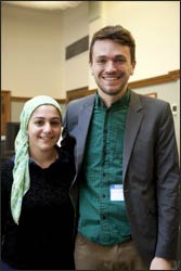 Shayreen Isoli, a Muslim student at Lincoln, a Quaker girl's school in Rhode Island, was so inspired by Chris as a gay atheist interfaith activist that she organized his visit to the school.