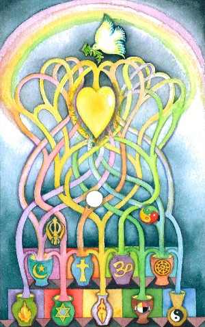 A painting by Gina Rose Halprin – Photo: Chaplaincy Institute