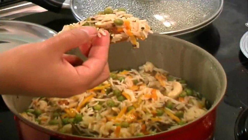 Rice pulao created with a Brahma Kumari recipe – Photo: Brahma Kumaris
