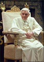 Pope Benedict XVI Photo: Wikipedia
