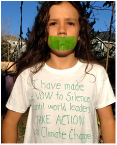 Itzcuauhtli Roske-Martinez has taken a vow of silence to demand a response to climate change. – Photo: Sahar Alsahlani