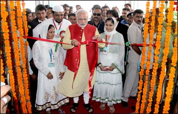 Modi at the inauguration of a new hospital in his home-state of Gujarat – Photo: Wikipedia