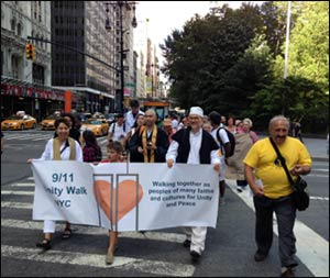 Religious leaders lead this year's 9/11 Unity Walk NYC