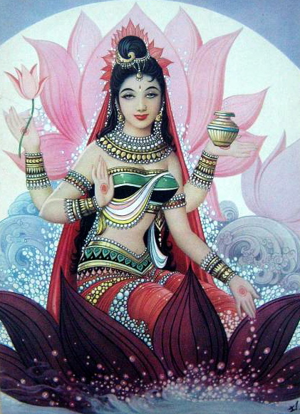 Shri Lakshmi is one of Hinduism's most loved deities. – Photo: Wikimedia, Bazar Art