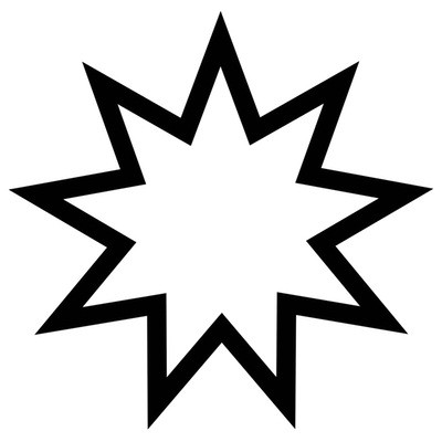 The symbol of the Bahá'í faith
