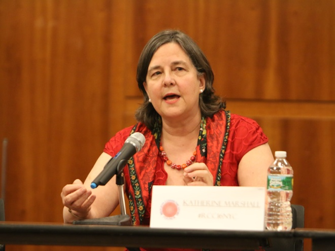 Katherine Marshall addressing the Religion Communicators Conference in 2016 – Photo: RCC, George Conklin