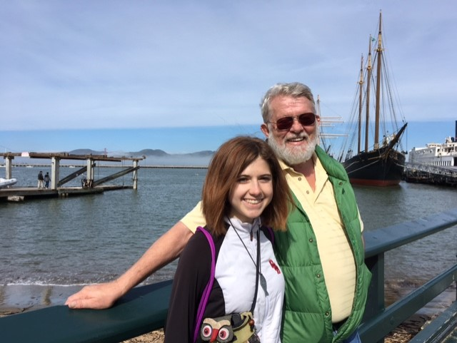 Paul Chaffee and I at Fisherman's Wharf, San Francisco – Photo: Jan Chaffee