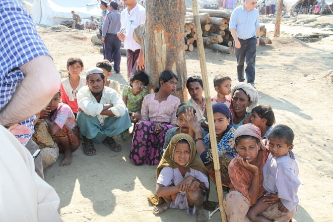 Displaced Rohingya people in Rakhini State, Myanmar – Photo: Foreign and Commonwealth Office, OGL 1.0