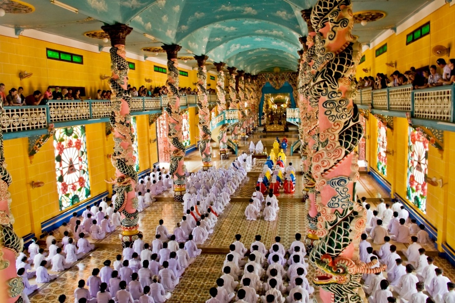 This Cao Dai Temple in Vietnam provides a feast for the senses. – Photo: S Vietnam Travel Company