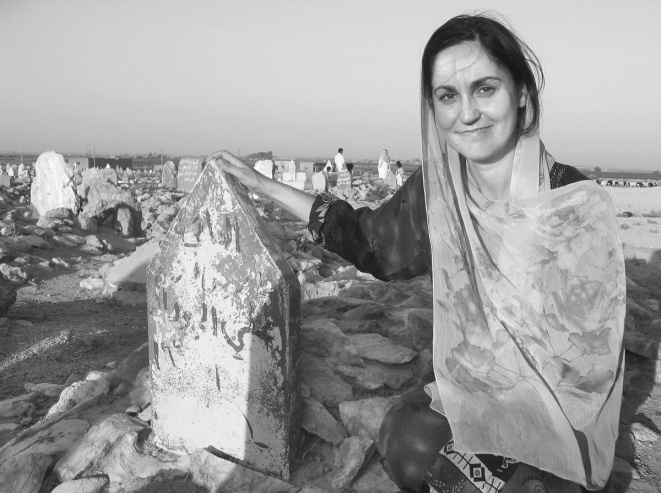 In Syria, MacKeen pays her respects to a relative of Sheikh Hammud al-Aekleh – Photo: Dawn MacKeen