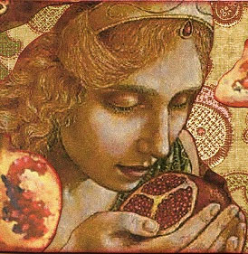 Persephone eating pomegranates – Photo: Greek-Gods.info