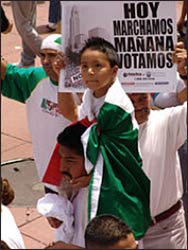 An immigrants' rights march in Los An  geles  –  Photo: Wikimedia