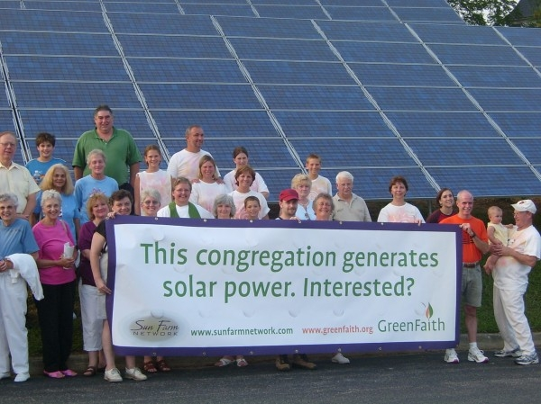 GreenFaith has supported more than 1 megawatt of solar installations at faith-based facilities. – Photo: Rev. Fletcher Harper
