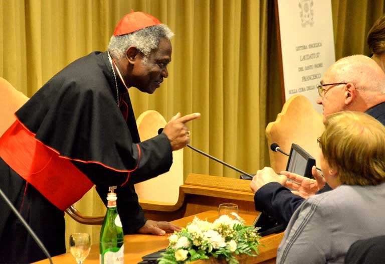 Ghana Cardinal Peter Turkson, the Church's guiding force behind the writing of Laudato Si, On Care for Our Common Home. This picture was taken on the day the document was released. – Photo: Justin Catanoso