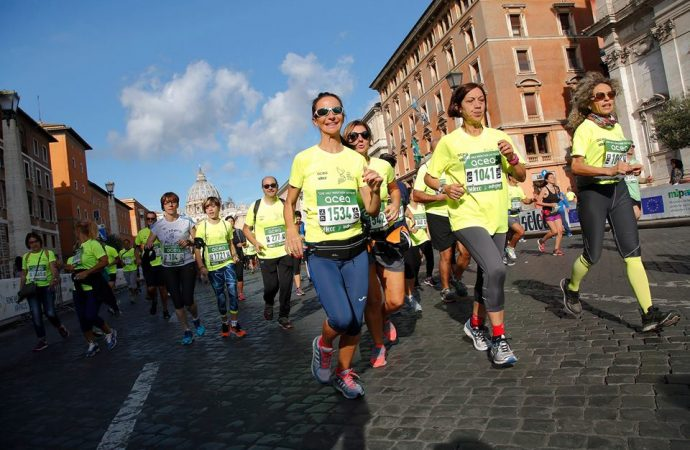 Runners at the Via Pacis Rome half-marathon – Photo: Facebook, Rome Half Marathon