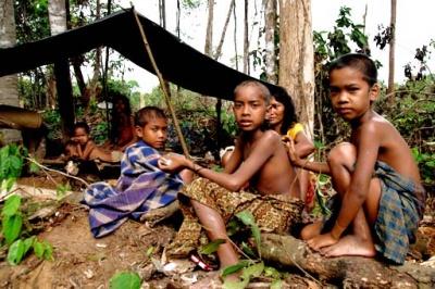 Orang Rimba children in Indonesia – Photo: Suku Anak Dalam, goriau.com