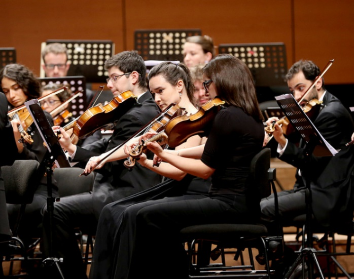 West-Eastern Divan Orchestra performs works of Mozart and Beethoven within the World Humanitarian Summit in Instanbul – Photo:    World Humanitarian Summit, C.c. 2.0 nd