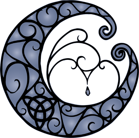 Pagan moon triquetra – Photo:    Pixabay