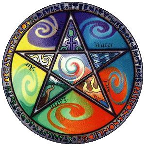 Five Wiccan Elements – Photo:    Wikimedia