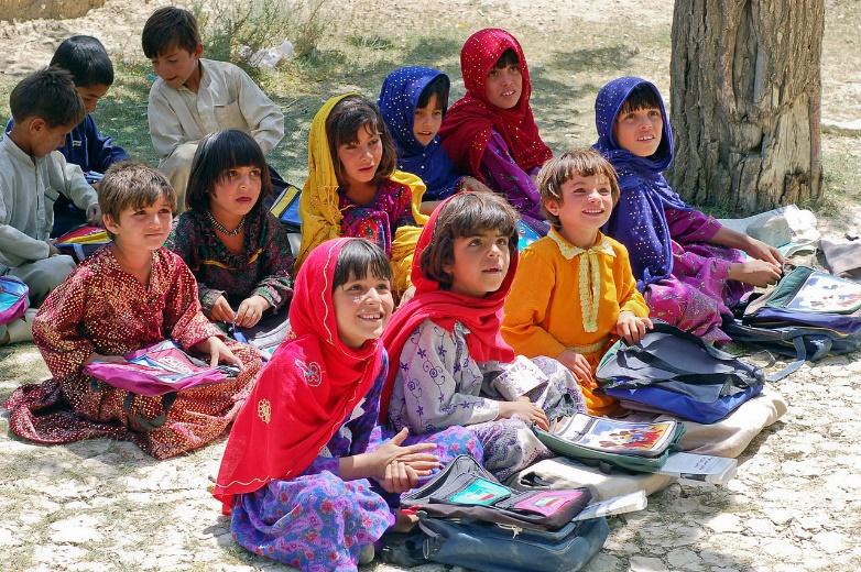 Muslim students in Paktia Province, Pakistan – Photo:    Wikipedia