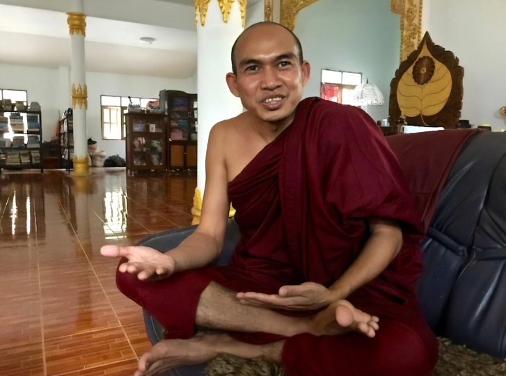 Venerable Ashin Issariya, who helped lead Myanmar's Saffron Revolution in 2007, recently signed the Buddhist Humanitarian Project's petition to stop the violence against the Rohingya people in Myanmar – Photo:    Larry Steele, Lion's Roar