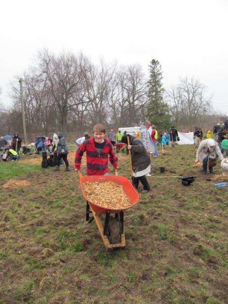 An interfaith team planting trees last month – Photo:    ReForest London