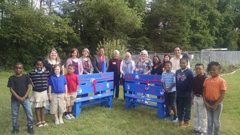 Compassion Corner installed at Petree Elementary School, Winston-Salem, NC in 2015 – Photo: Petree Elementary School