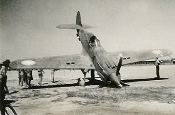 Rough landing of a P40