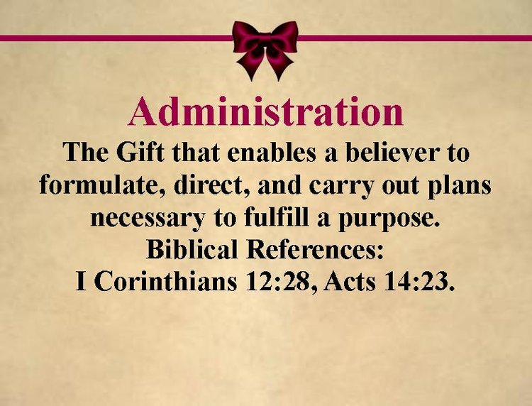 Spiritual gifts holy redeemer church gift administrationg negle Gallery