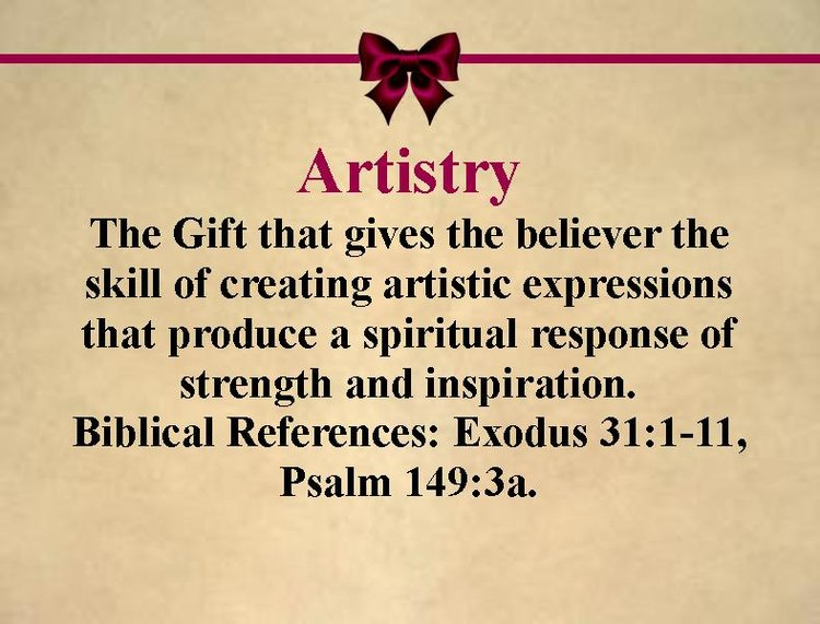 Spiritual gifts holy redeemer church gift artistryg negle Images