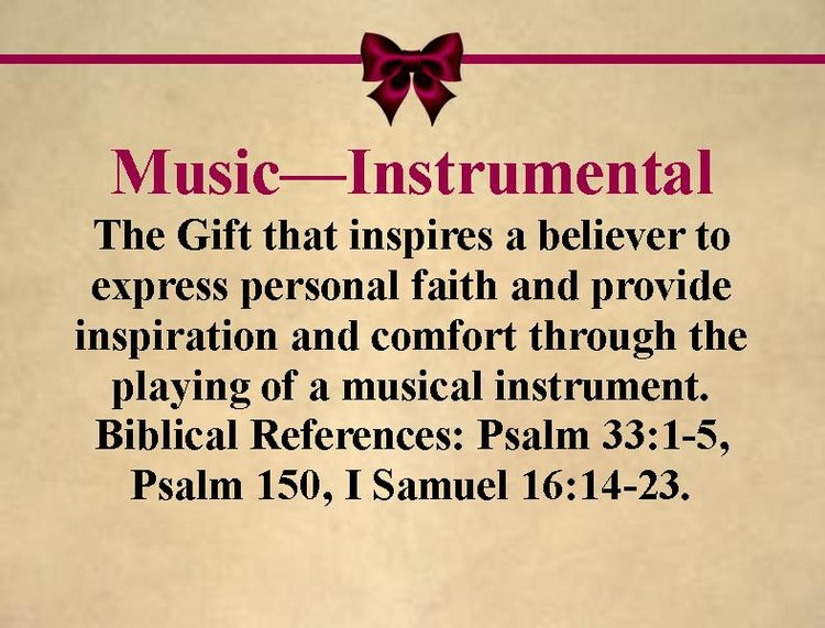 Spiritual gifts holy redeemer church gift instrumentalg negle Choice Image