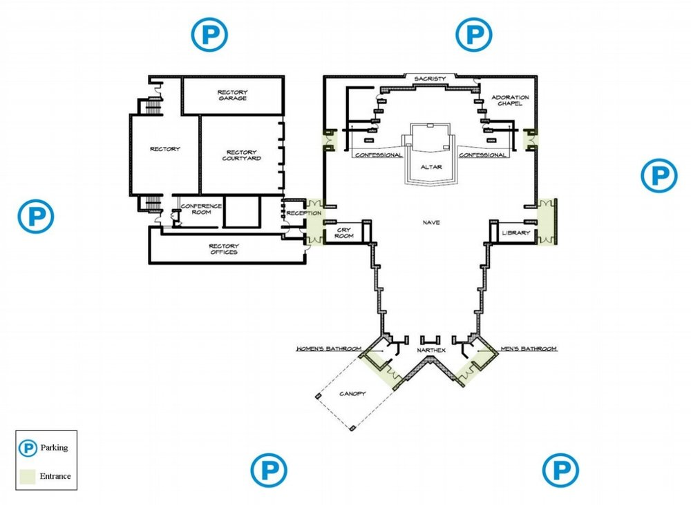 Campus map with parking and entrances web poster.jpg