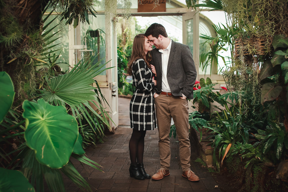 Erie County Botanical Garden Engagement Pictures