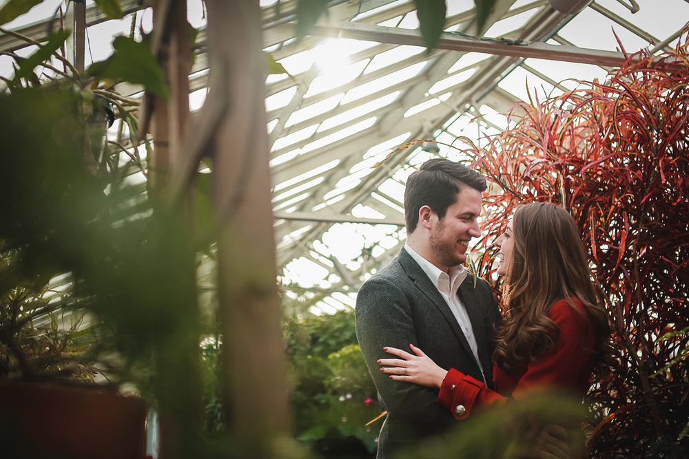 Indoor Winter Engagement Portrait Buffalo NY