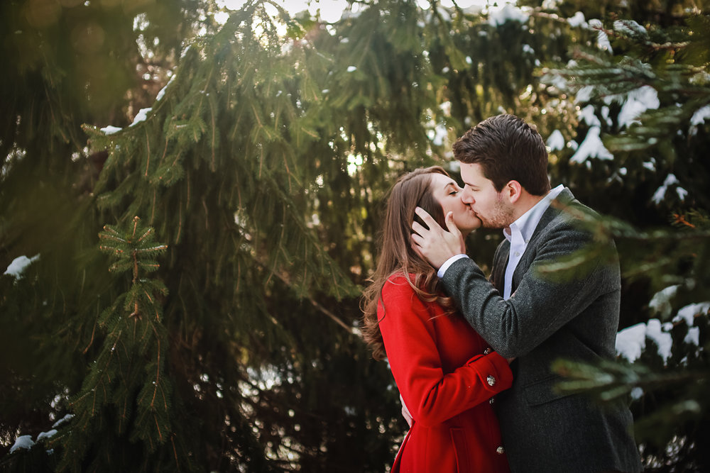 Winter Engagement Portrait Photographer Buffalo NY