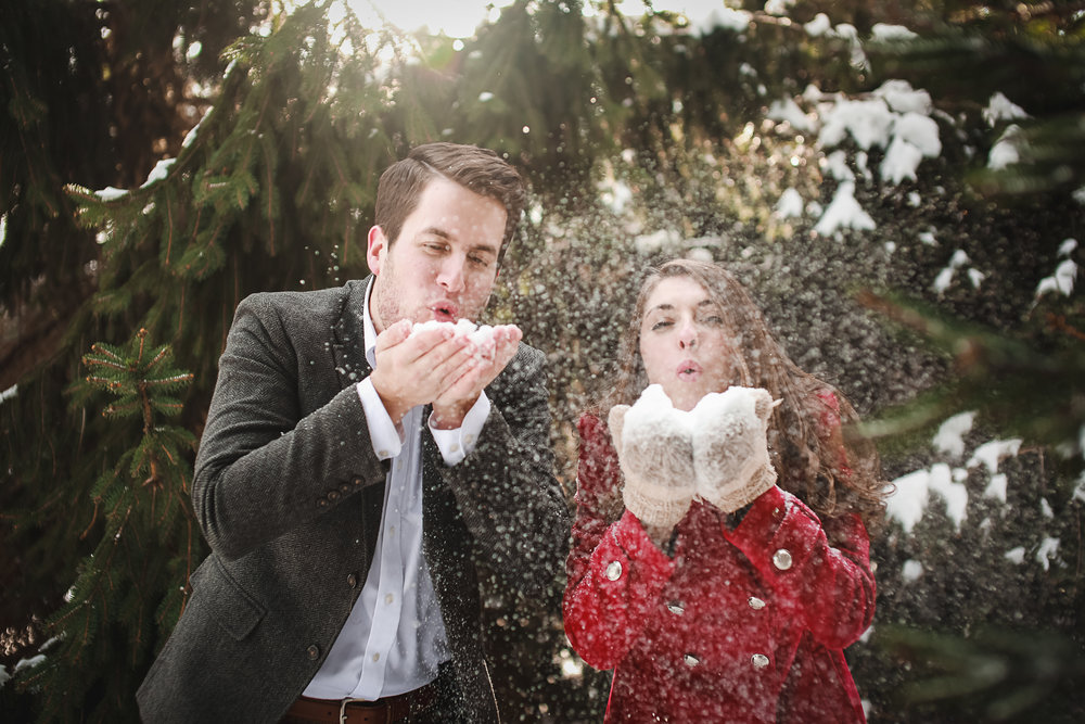 Buffalo NY Winter Engagement Portrait