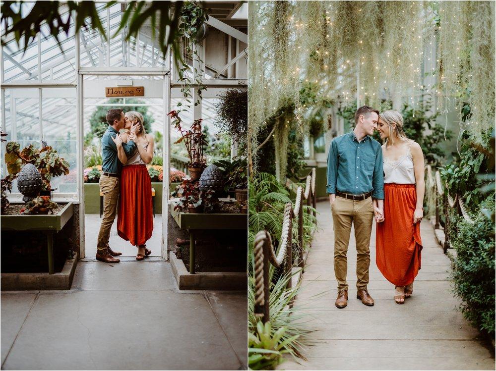 Buffalo Botanical Garden Engagement Portrait Photography