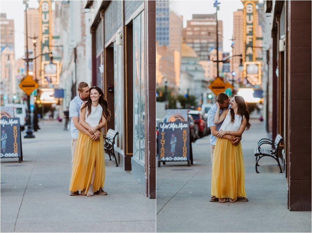 downtown buffalo engagement photographer portrait
