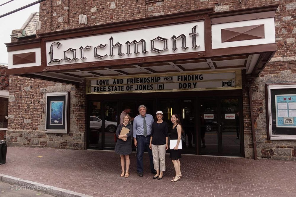 CBS correspondent and Larchmont resident Lou Young with Playhouse supporters