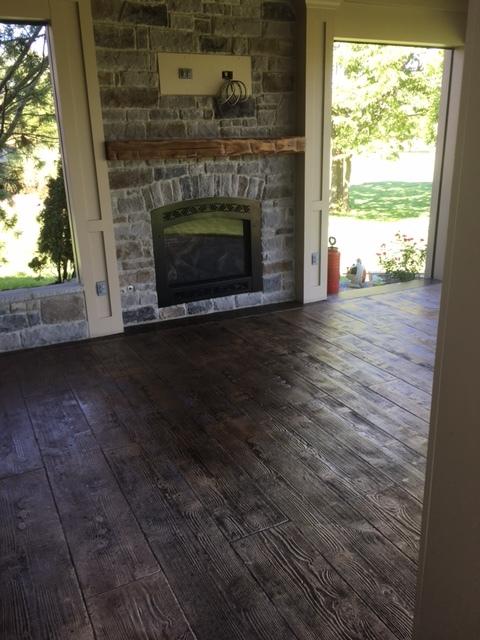 Wood Plank, Desert Tan Hardener, Dark Gray Release, Poly-Seal