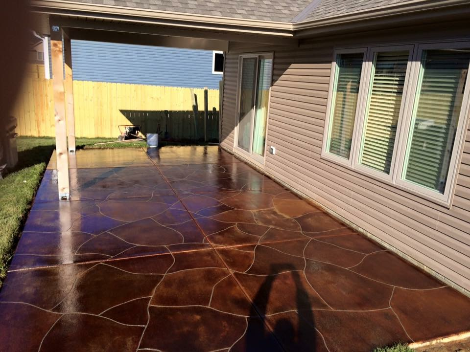 Acid stain patio