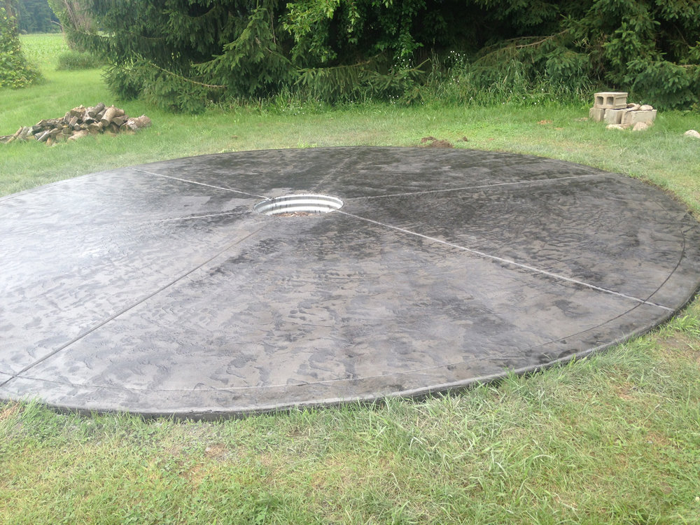 Circle we did with a fire ring Gray with Charcoal release