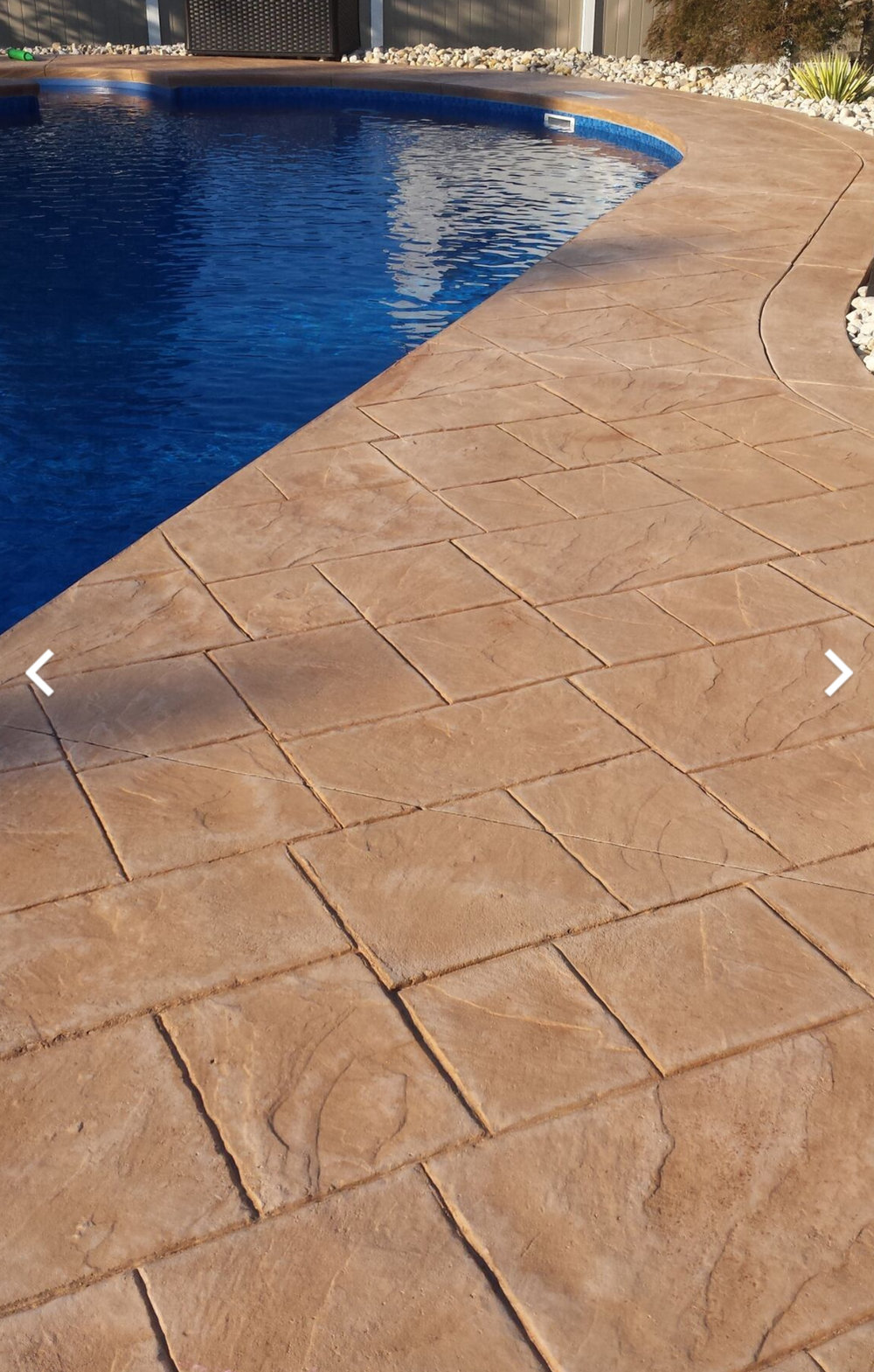 Large ashler slate fm 3150 Desert tan integral color Sunbaked clay highlights