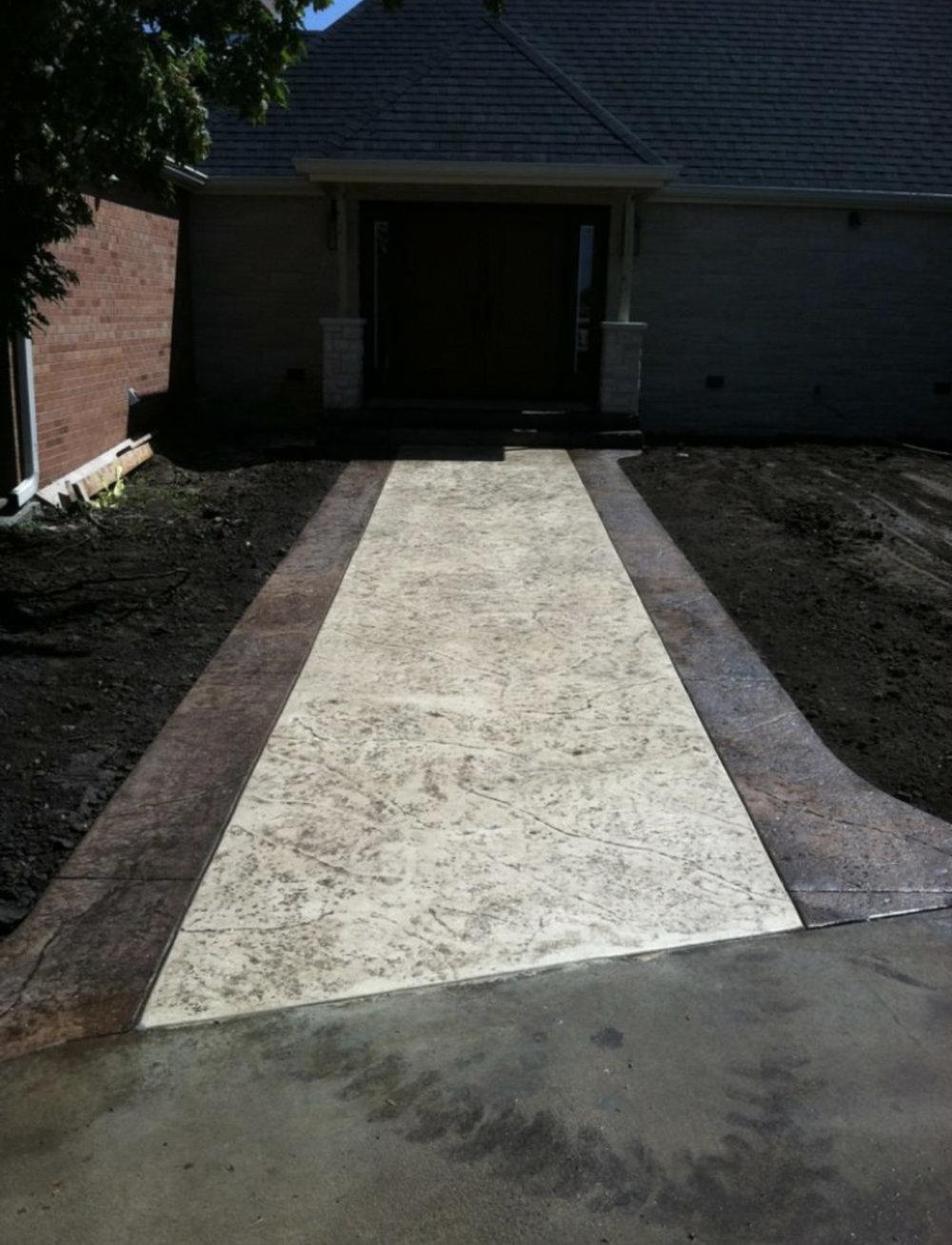 Brickform HD color hardner, Brickform antique release, and Brickform rough stone texture mats