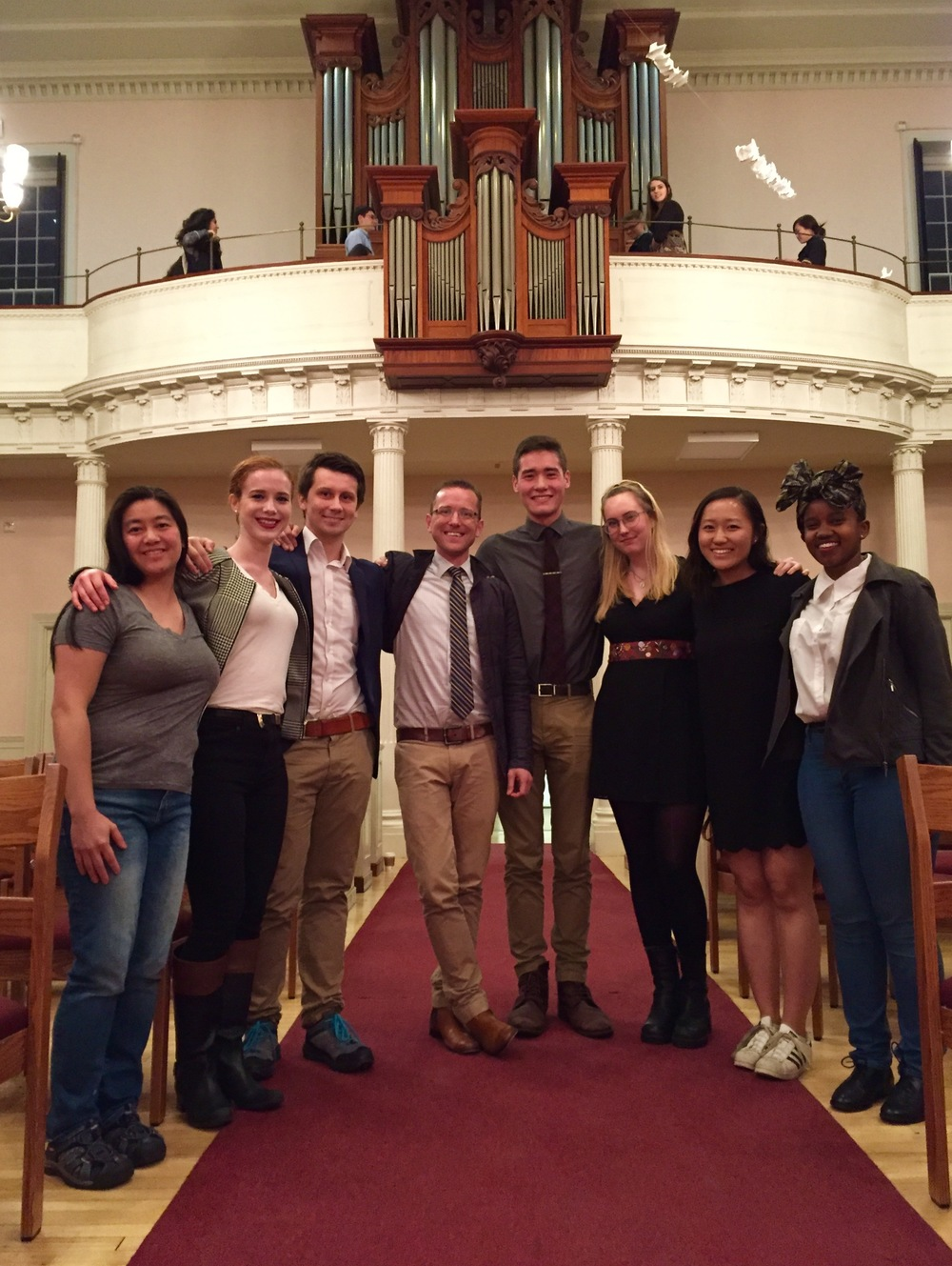 Christian Lane with students at Old West Church