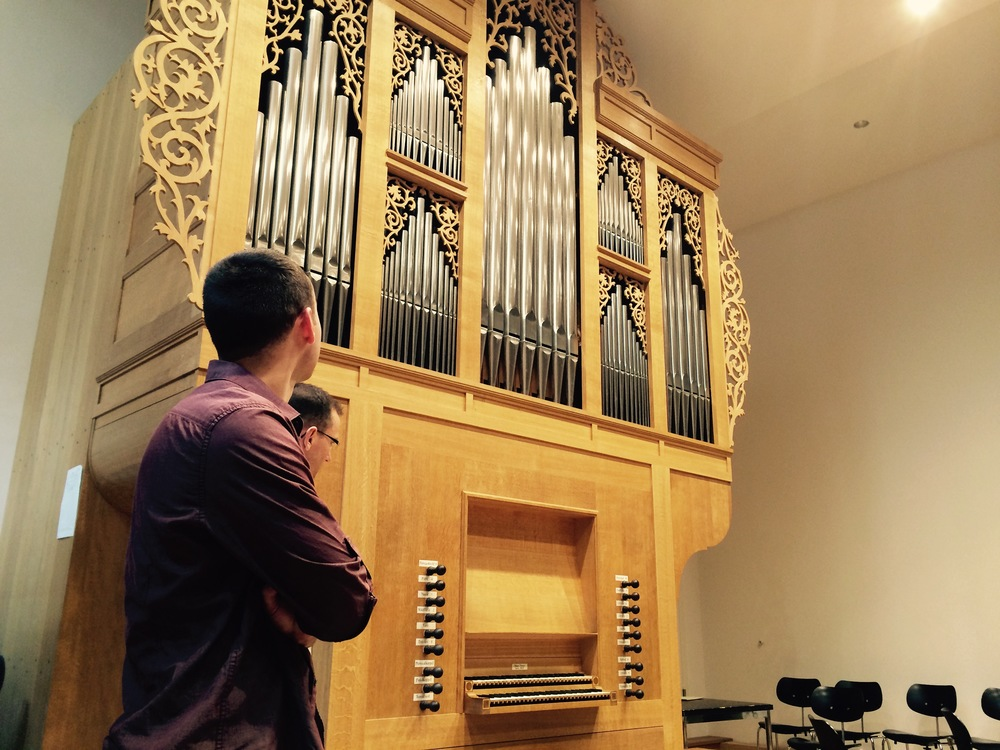 Kade admires the North German-style organ